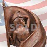 Carved Walnut Liberty