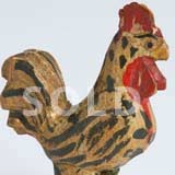 Folk Art Carving of Rooster