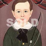 Folk Art Hamblin Portrait, Boy with Whip