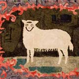 Hooked Rug of a Sheep