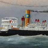 Painting of Steamer Ship