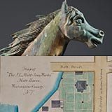 Rare Map and Exceptional Running Horse Weathervane